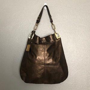 Badgley Mischka Leather Carryall Shoulder Bag